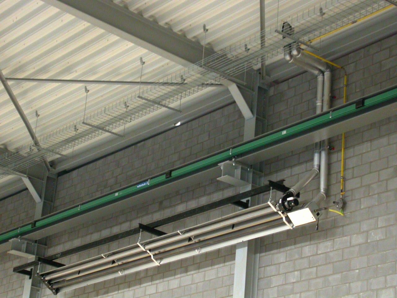 fonctionnement systemes tube radiant gaz